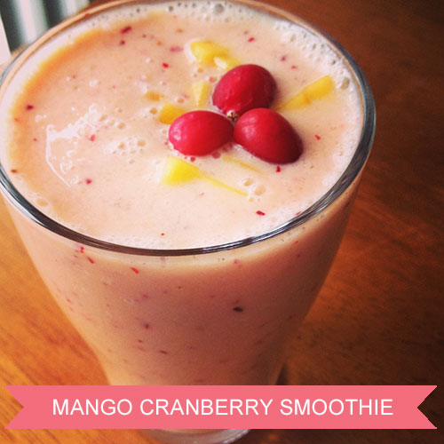 Mango Cranberry Smoothie